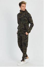 FULL ZIPPERED HOODED CAMOUFLAGE PRINTED TRACKSUIT-106